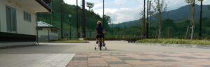 息子後ろ自転車