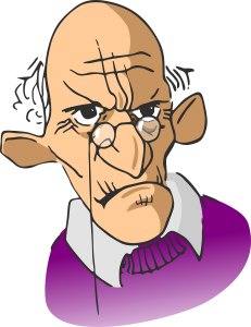 シニア・お年寄り・高齢者。怒っている画像