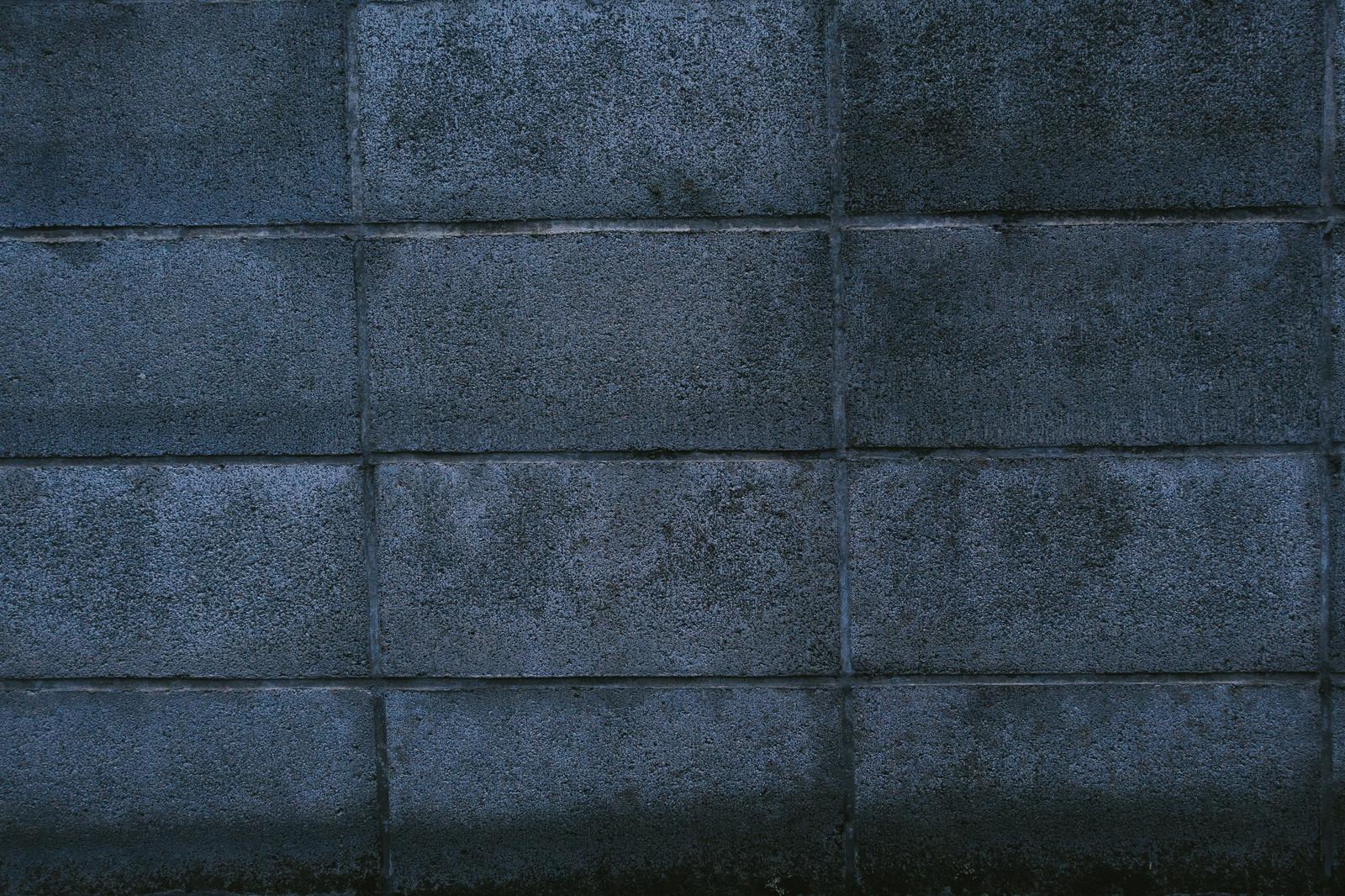 コンクリートブロック塀の画像