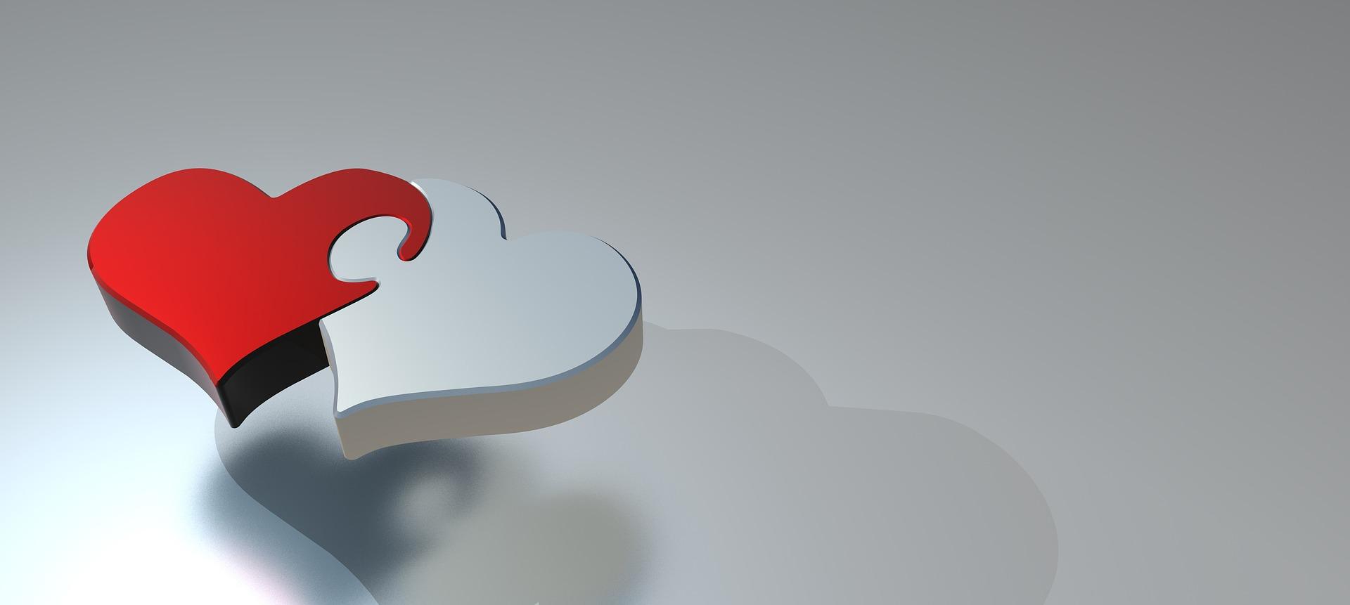 ハートのパズル・絆のイメージ画像