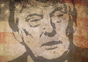 アメリカ大統領のトランプのイラスト