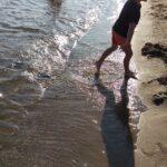 小学一年生の夏休みに息子と海水浴
