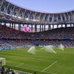 サッカーのスタジアムの画像