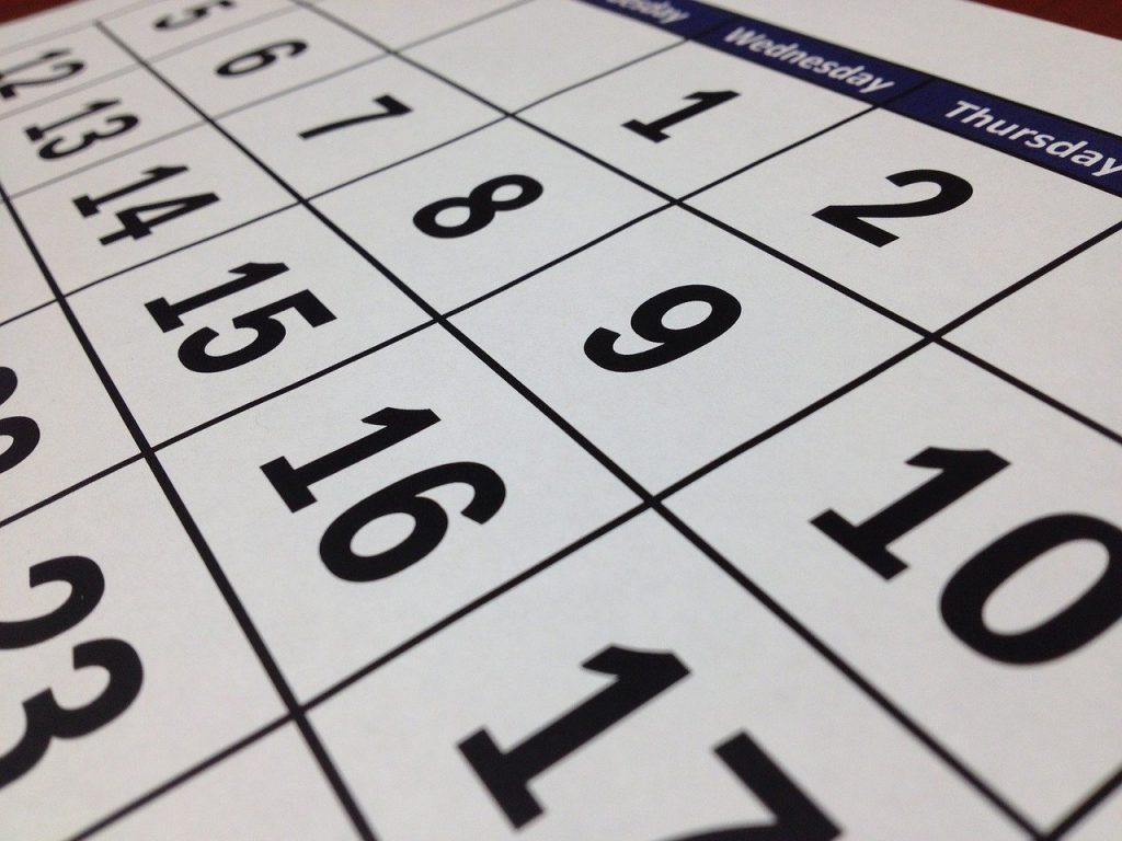 カレンダー・暦・グレゴリオ暦のイメージ画像