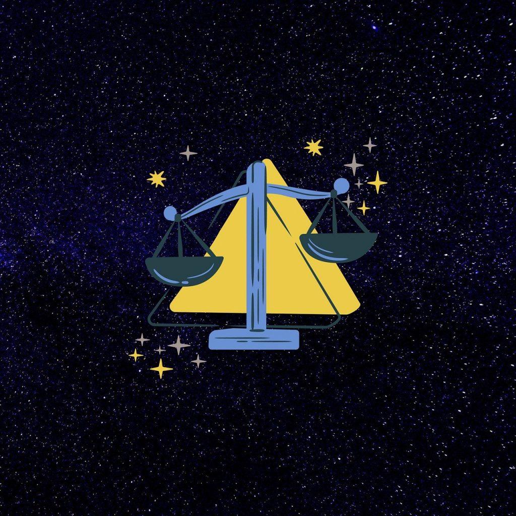 天秤のイラスト・てんびん座のイメージ画像