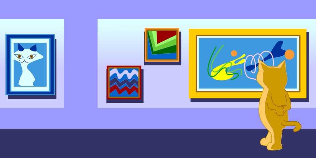 美術館で絵画鑑賞