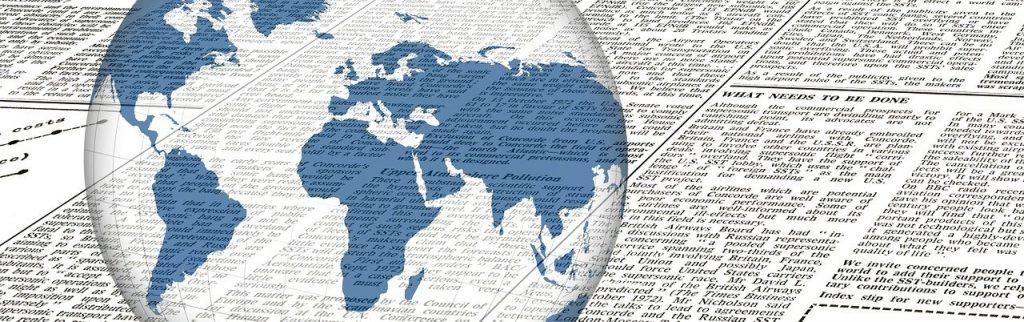 地球と新聞・出来事・世界・海外・諸外国の出来事、何があった日?のイメージ画像