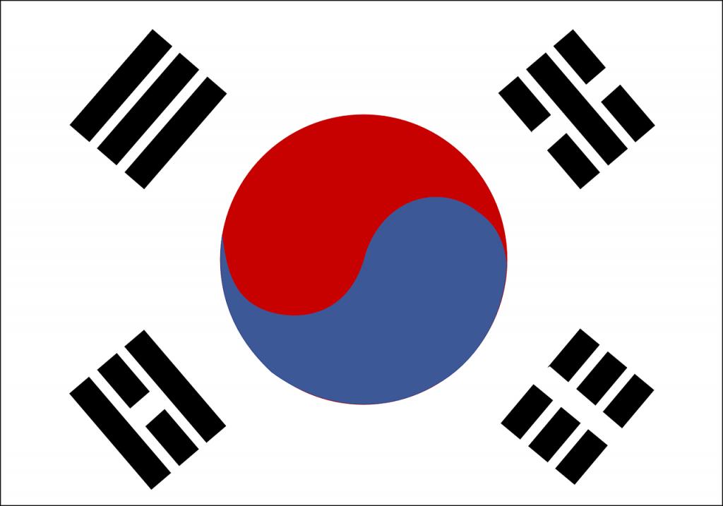 韓国の国旗・韓国のイメージ画像