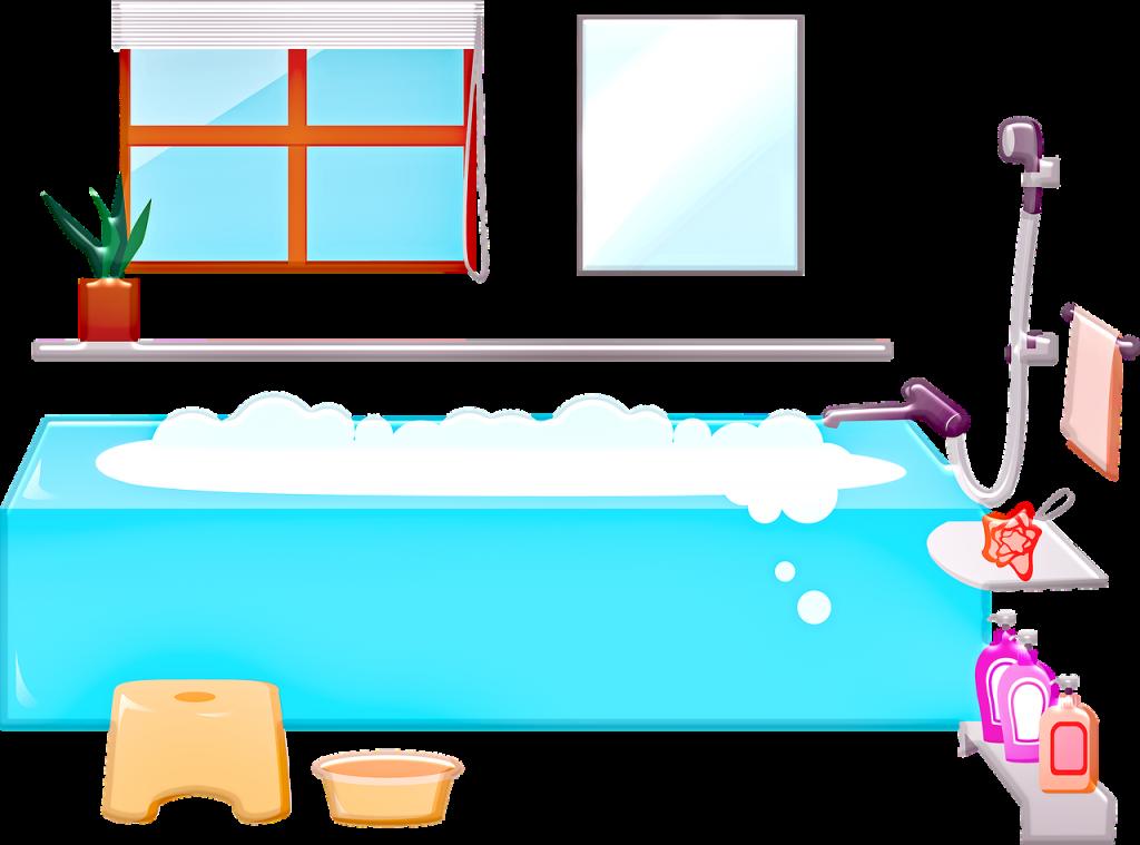 お風呂の絵