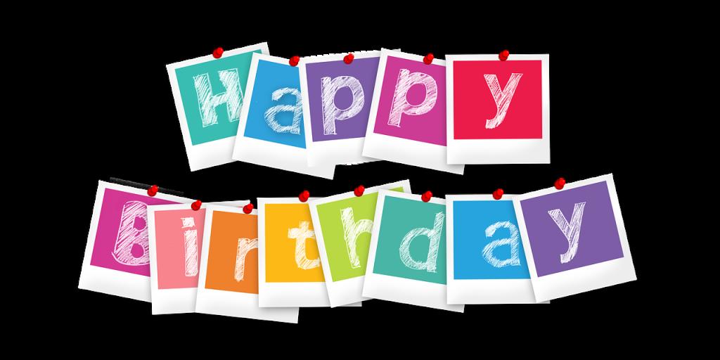 ハッピーバースデー・ポラロイド写真・誕生日のイメージ画像