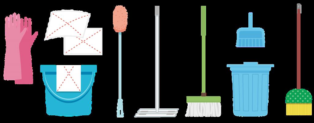 掃除道具のイラスト・清掃の日のイメージ画像