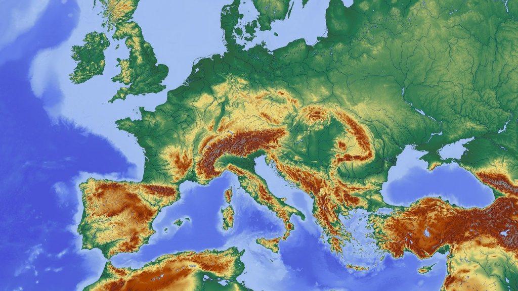 ヨーロッパの地図・ヨーロッパ言語の日のイメージ