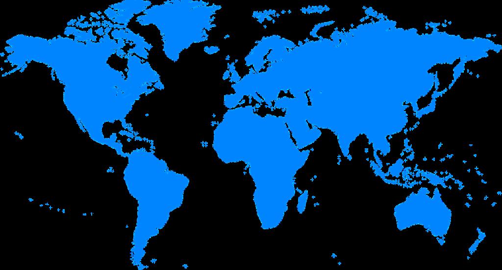 青い世界地図・世界・海外・諸外国・国際デーのイメージ画像