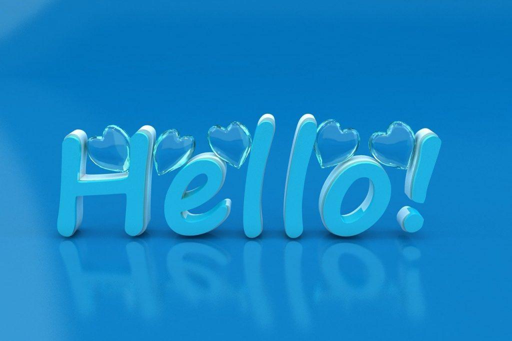 Helloの立体文字・ハローのイメージ画像