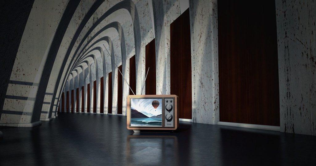 建物の中にテレビ・テレビのイメージ画像