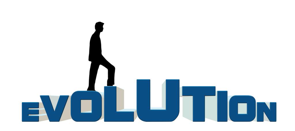 evolitionの文字・進化のイメージ画像