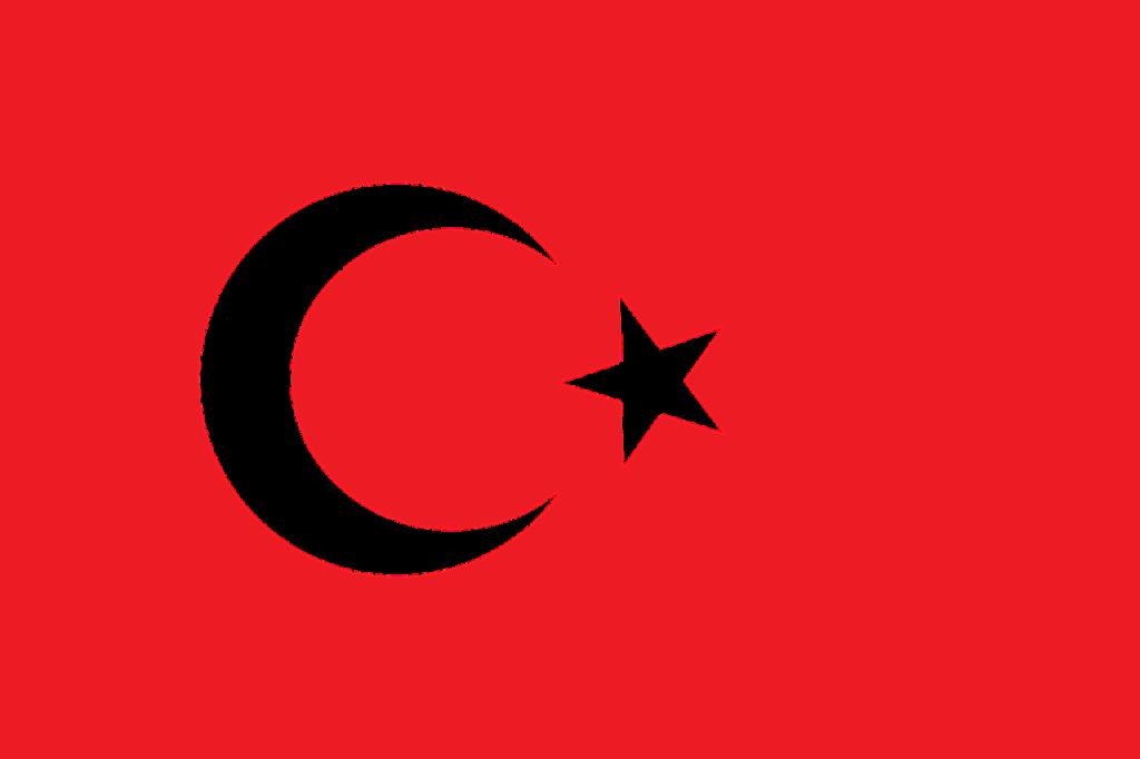トルコの国旗のイメージ画像