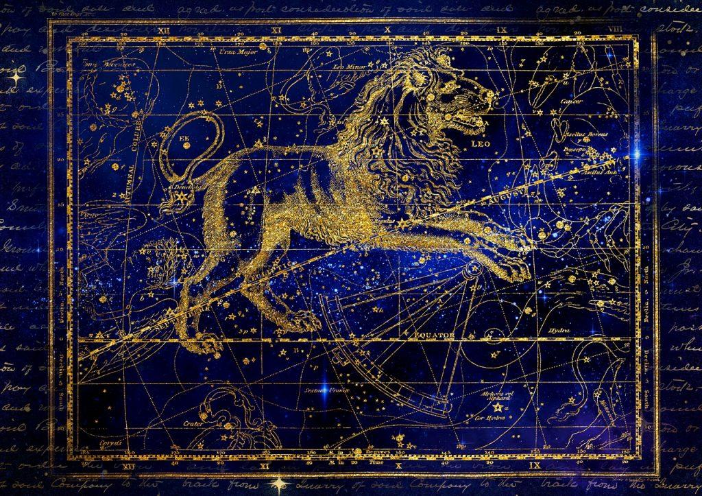 獅子座・十二星座・宇宙・星空のイメージ画像