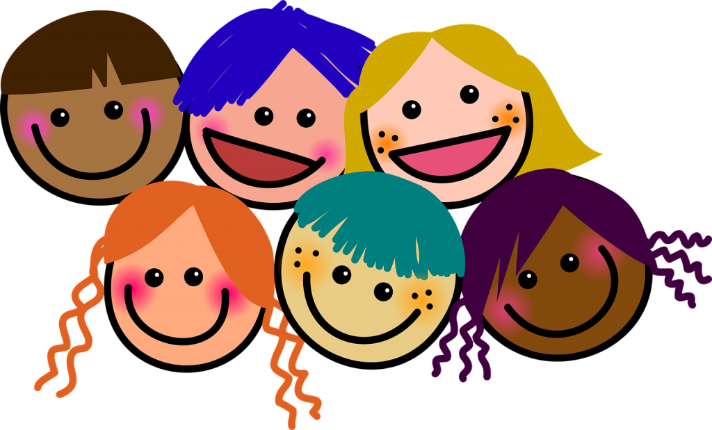 子どもたちの笑顔のイラスト・笑顔のイメージ