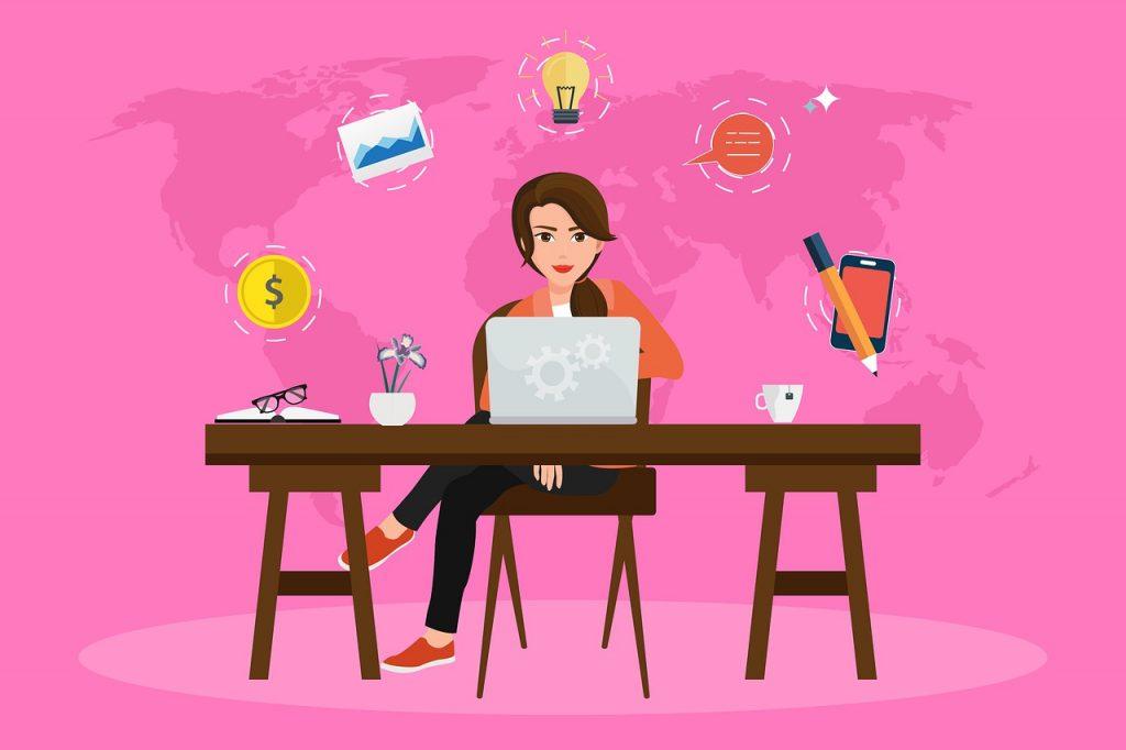 働く女性・OLのイメージ画像