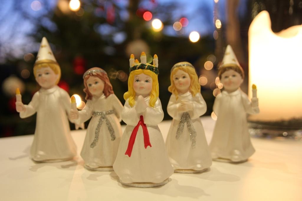 聖ルチア祭の行列の人形